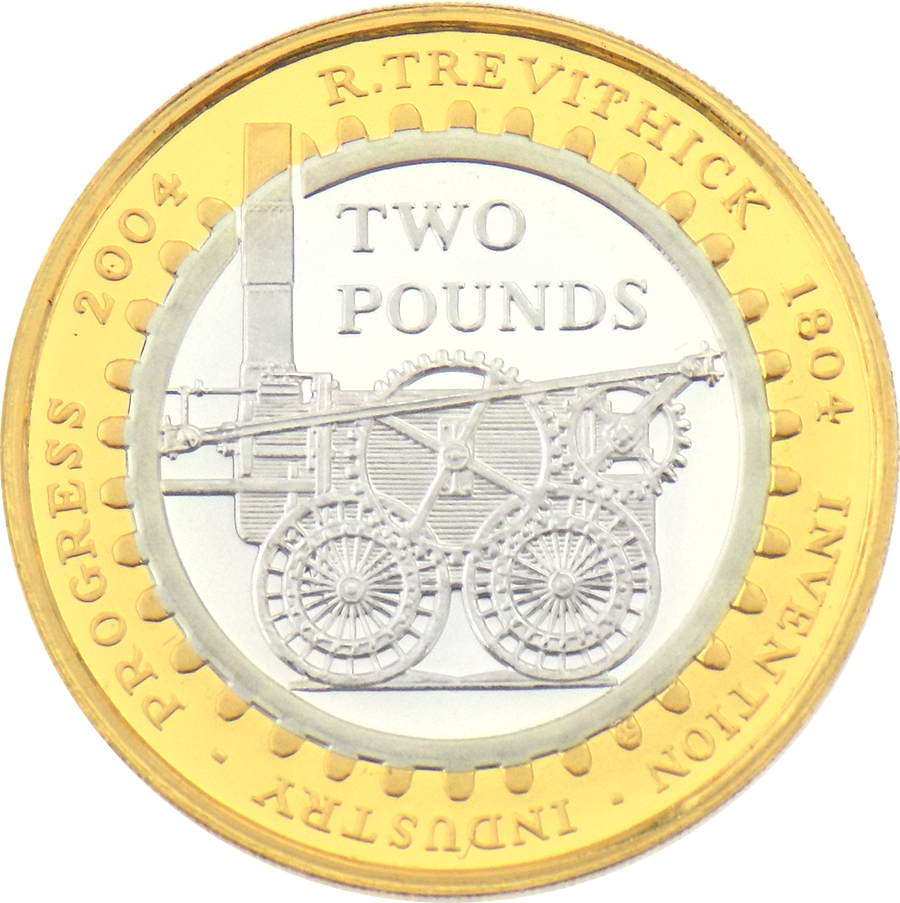 Pre-Owned 2004 Steam Locomotive Silver Proof Design £2 Coin - VAT Free