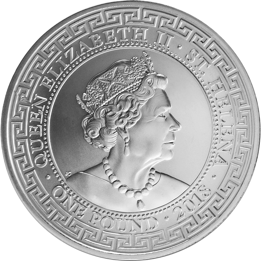 Pre-Owned 2018 St. Helena British Trade Dollar Restrike 1oz Silver Coin - VAT Free (Image 2)