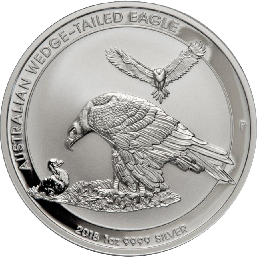 Pre-Owned 2018 Australian Wedge Tail Eagle 1oz Silver Coin - VAT Free (Image 1)