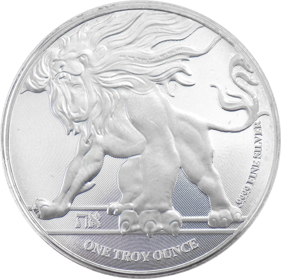 Pre-Owned 2018 Niue Roaring Lion 1oz Silver Coin - VAT Free (Image 1)