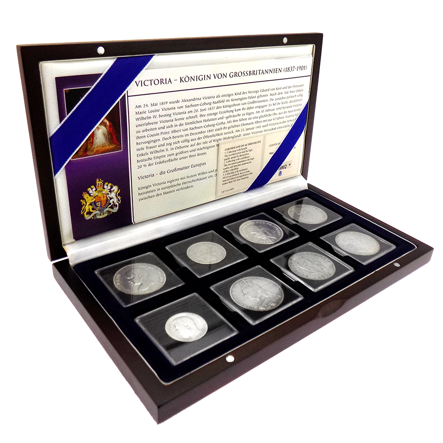 Pre-Owned Family Chronicles of Queen Victoria Silver 8-Coin Set - VAT Free
