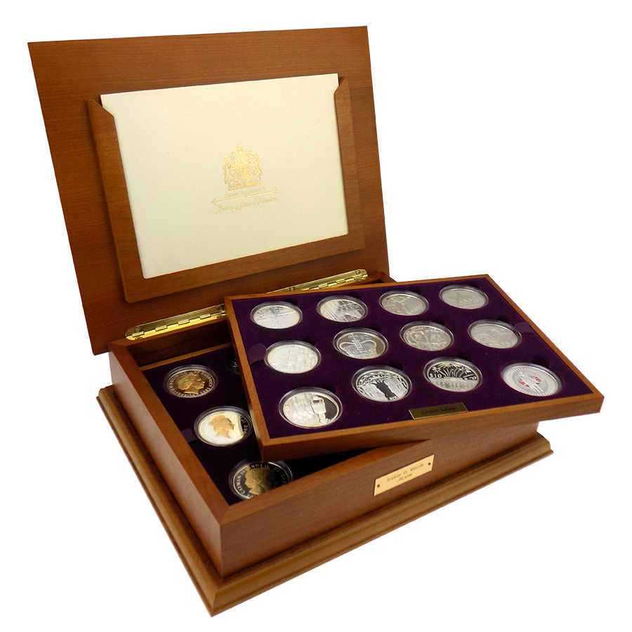 Pre-Owned 2002 & 2003 UK Royal Mint Silver Proof Crown Collection - VAT Free