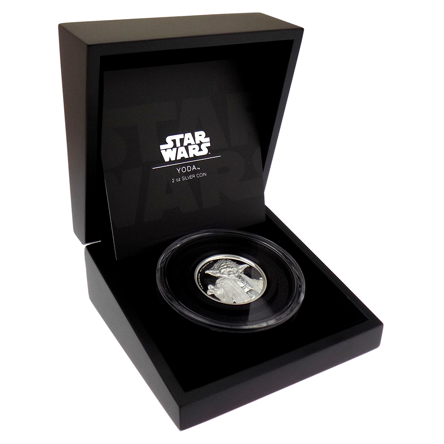 Pre-owned 2018 Niue Star Wars Yoda 2oz Silver Proof Coin - VAT Free