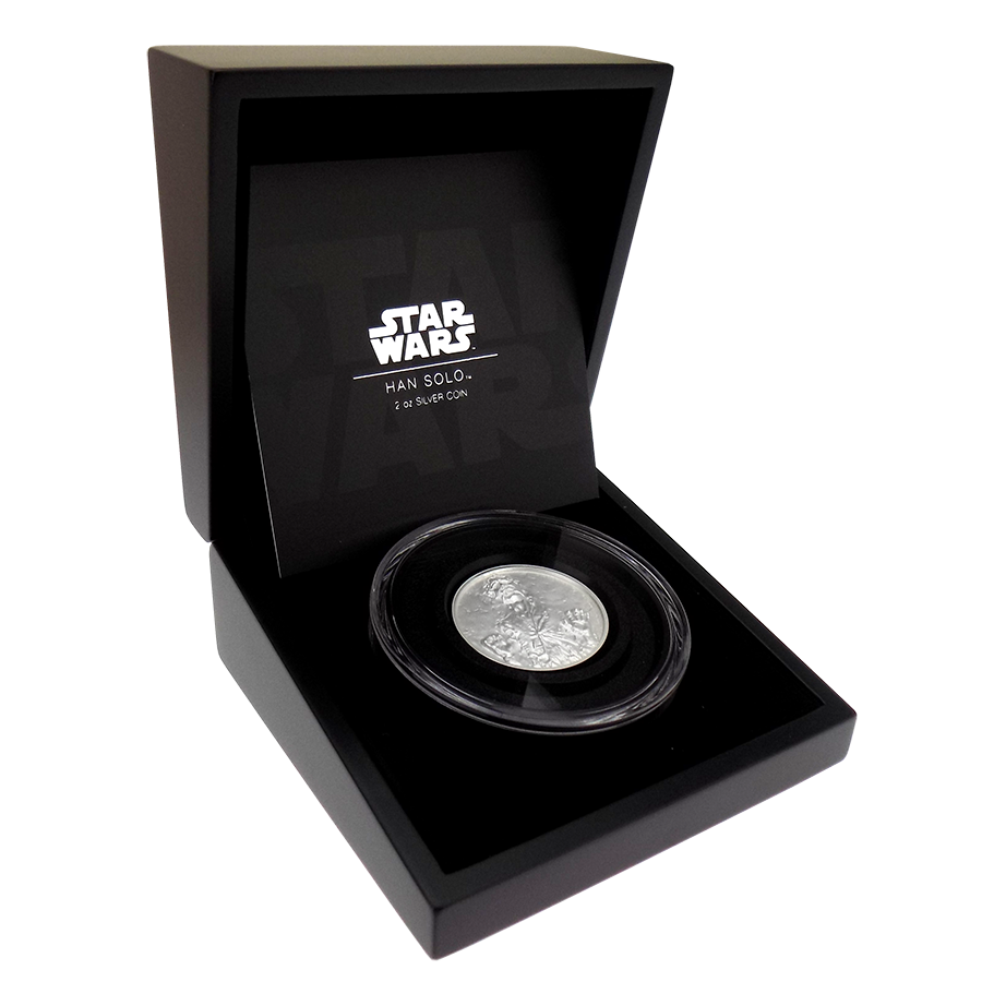 Pre-Owned 2017 Niue Star Wars Han Solo 2oz Silver Proof Coin - VAT Free