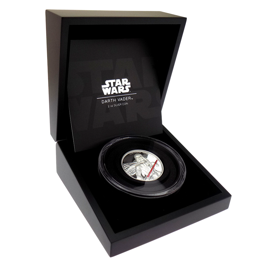 Pre-Owned 2017 Niue Star Wars Darth Vader 2oz Silver Proof Coin - VAT Free