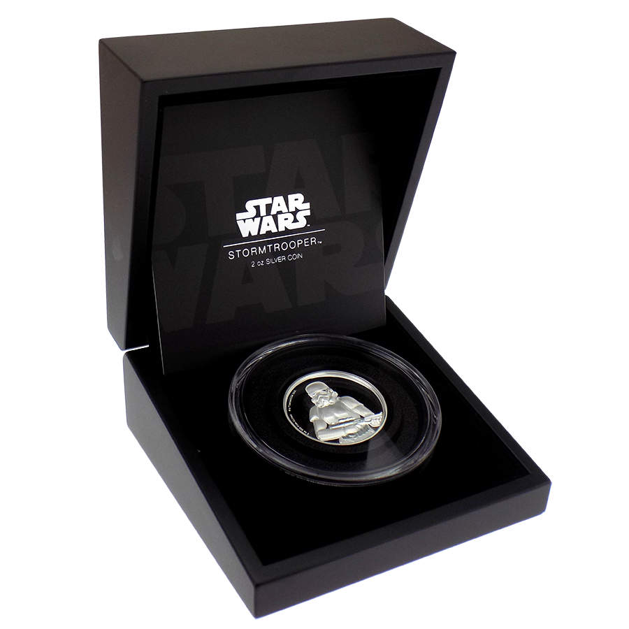 Pre-Owned Niue 2018 Star Wars Storm Trooper Proof 2oz Silver Coin - VAT Free