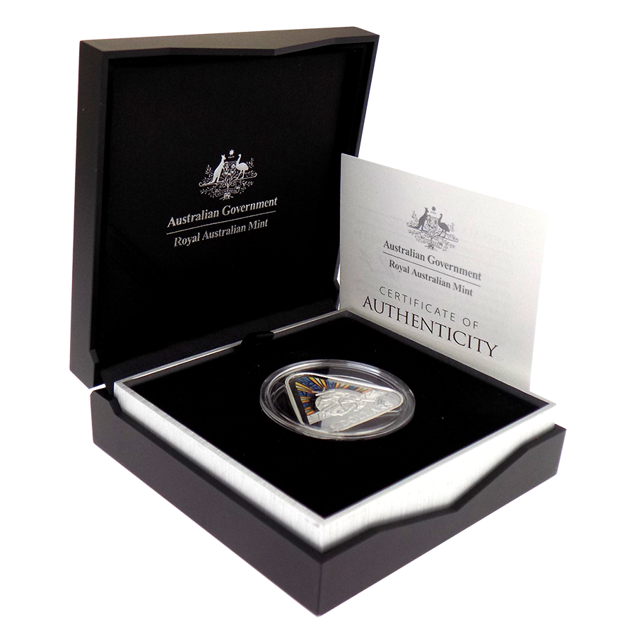 Pre-Owned 2018 Australian Mint 'Land, Sea & Air' Triangular Silver Proof Coin - VAT Free
