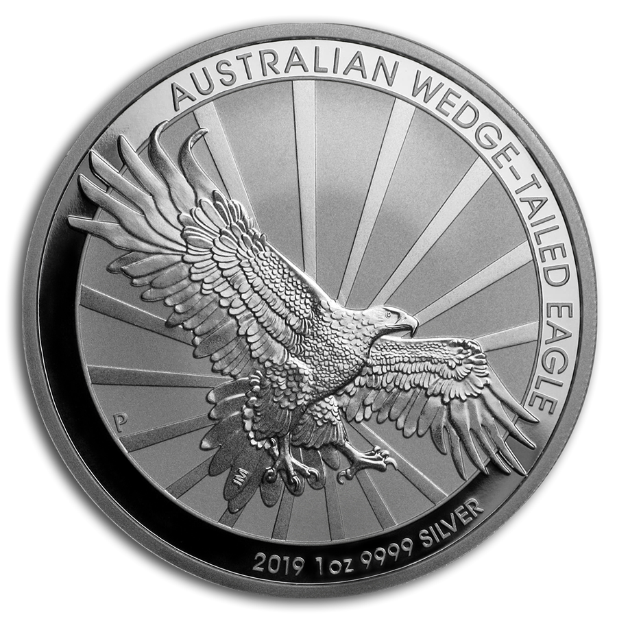 Pre-owned 2019 Australian Wedge Tail Eagle 1oz Silver Coin - VAT Free