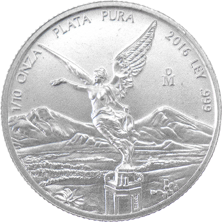 Pre-Owned Mexican Libertad 1/10oz Silver Coin - Mixed Dates - VAT Free