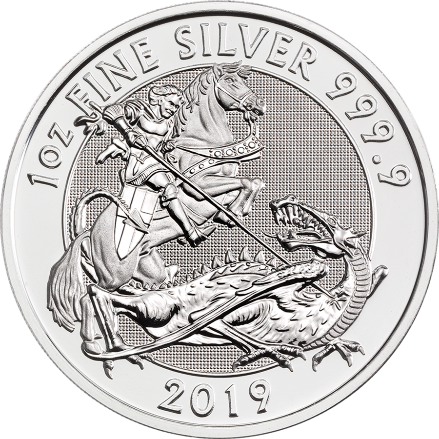 Pre-Owned 2019 Royal Mint Valiant 1oz Silver Coin - VAT Free