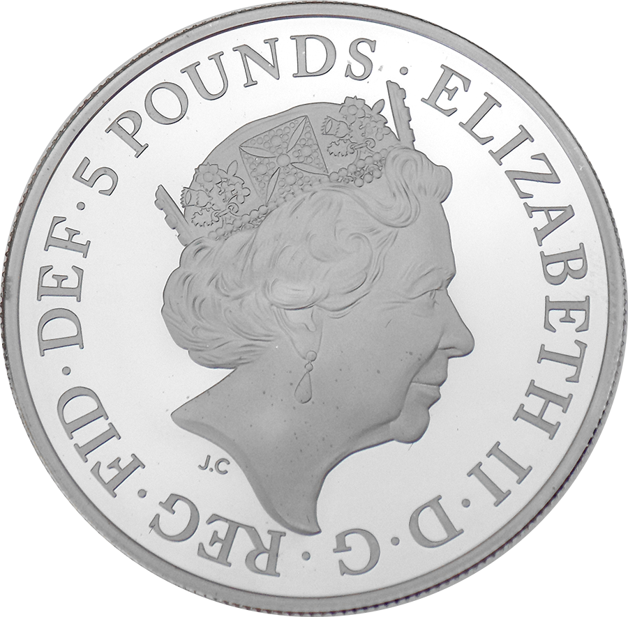 Pre-Owned 2018 UK 5th Birthday Of Prince George Of Cambridge £5 Proof Silver Coin - VAT Free (Image 3)