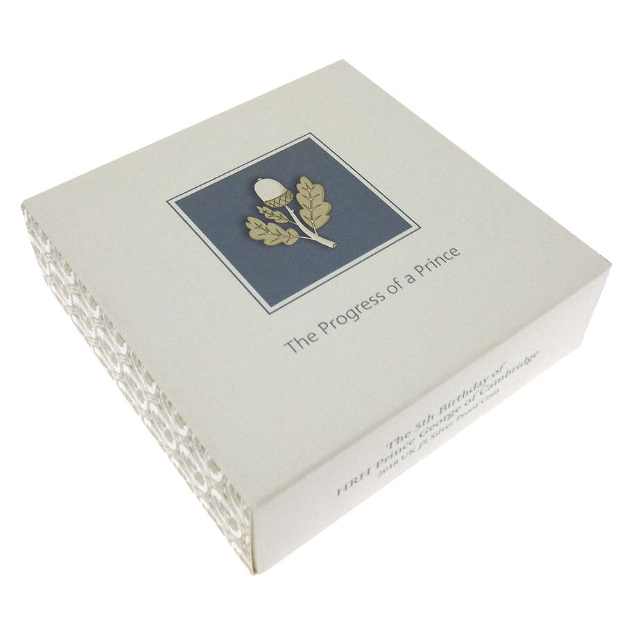 Pre-Owned 2018 UK 5th Birthday Of Prince George Of Cambridge £5 Proof Silver Coin - VAT Free (Image 4)