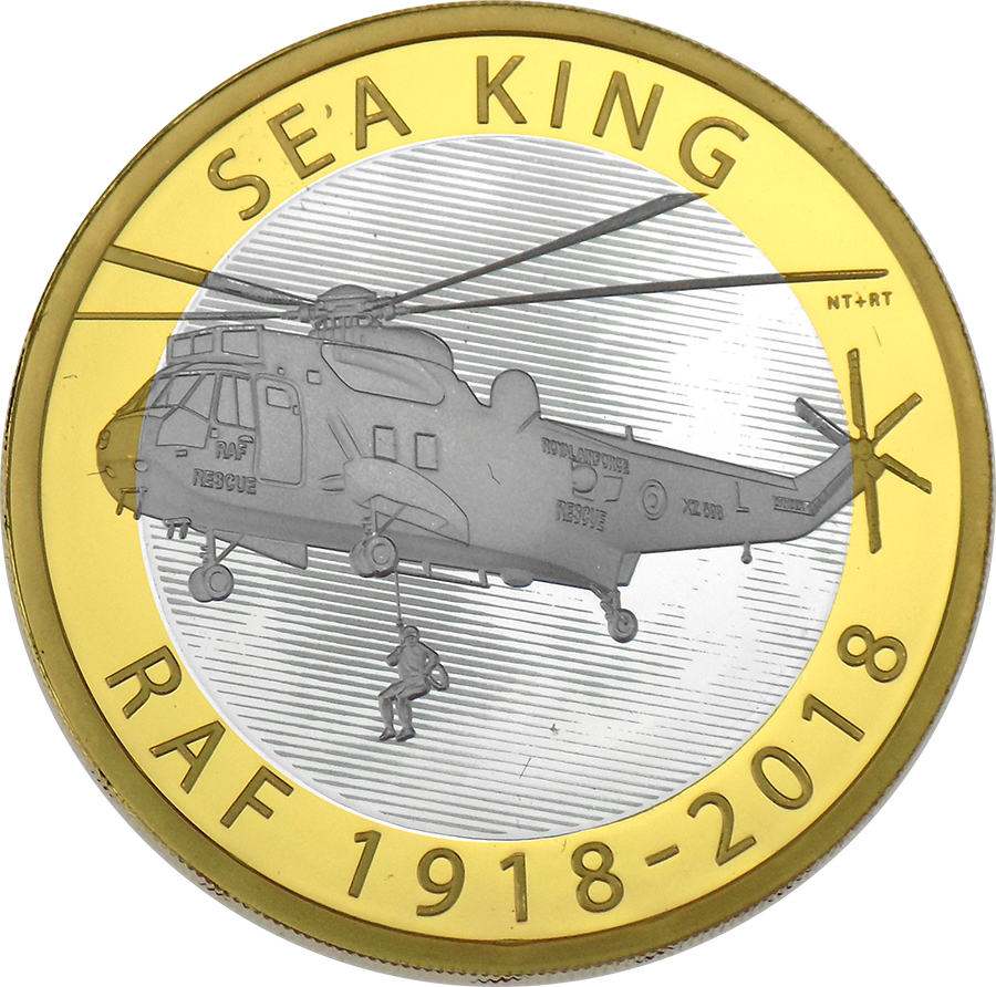 Pre-Owned 2018 UK RAF Centenary Sea King £2 Silver Proof Coin - VAT Free (Image 2)
