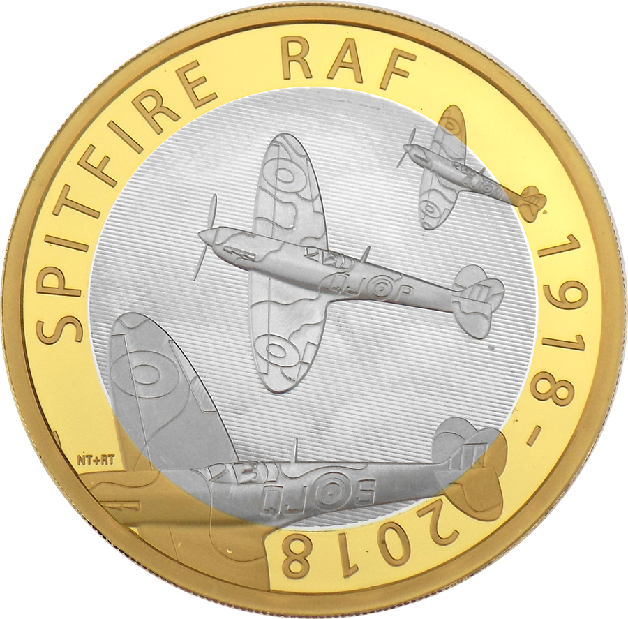 Pre-Owned 2018 UK RAF Centenary Spitfire £2 Silver Proof Coin - VAT Free (Image 2)