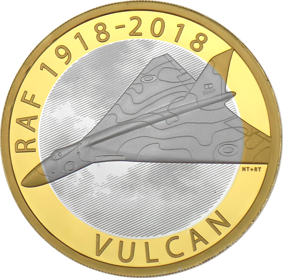 Pre-Owned 2018 UK RAF Centenary Vulcan £2 Silver Proof Coin - VAT Free (Image 2)