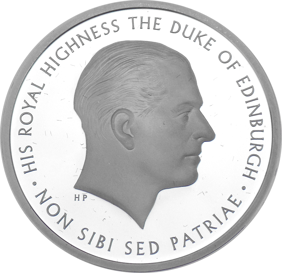 Pre-Owned 2017 UK Prince Philip Life Of Service £5 Proof Piedfort Silver Coin - VAT Free (Image 2)