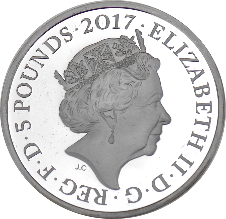 Pre-Owned 2017 UK Prince Philip Life Of Service £5 Proof Piedfort Silver Coin - VAT Free (Image 3)