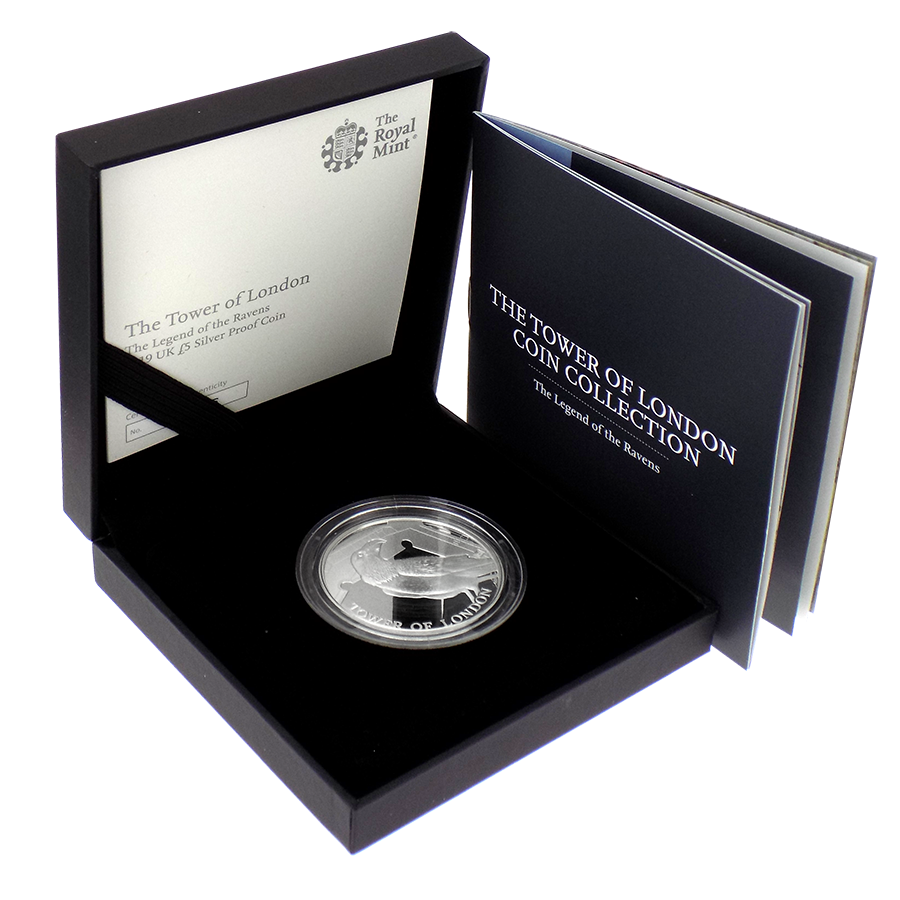 Pre-Owned 2019 UK Tower Of London: Ravens £5 Silver Proof Coin - VAT Free