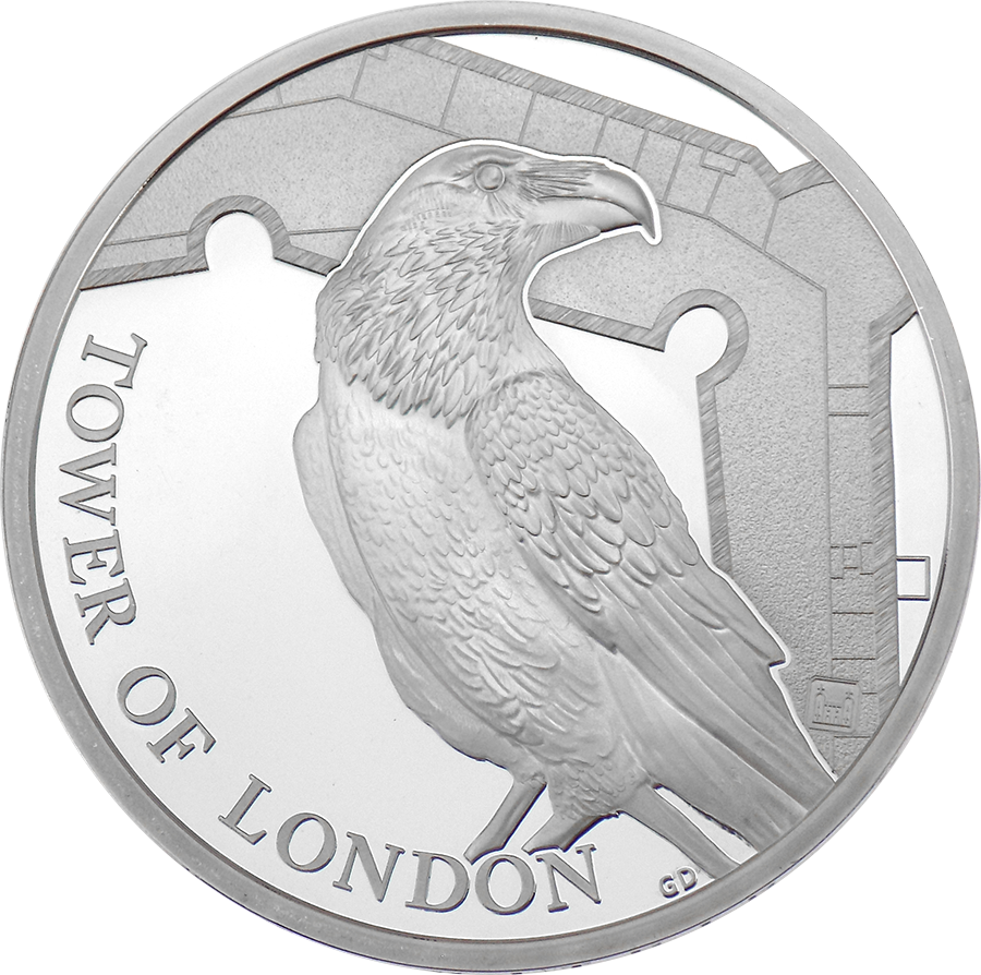 Pre-Owned 2019 UK Tower Of London: Ravens £5 Silver Proof Coin - VAT Free (Image 2)