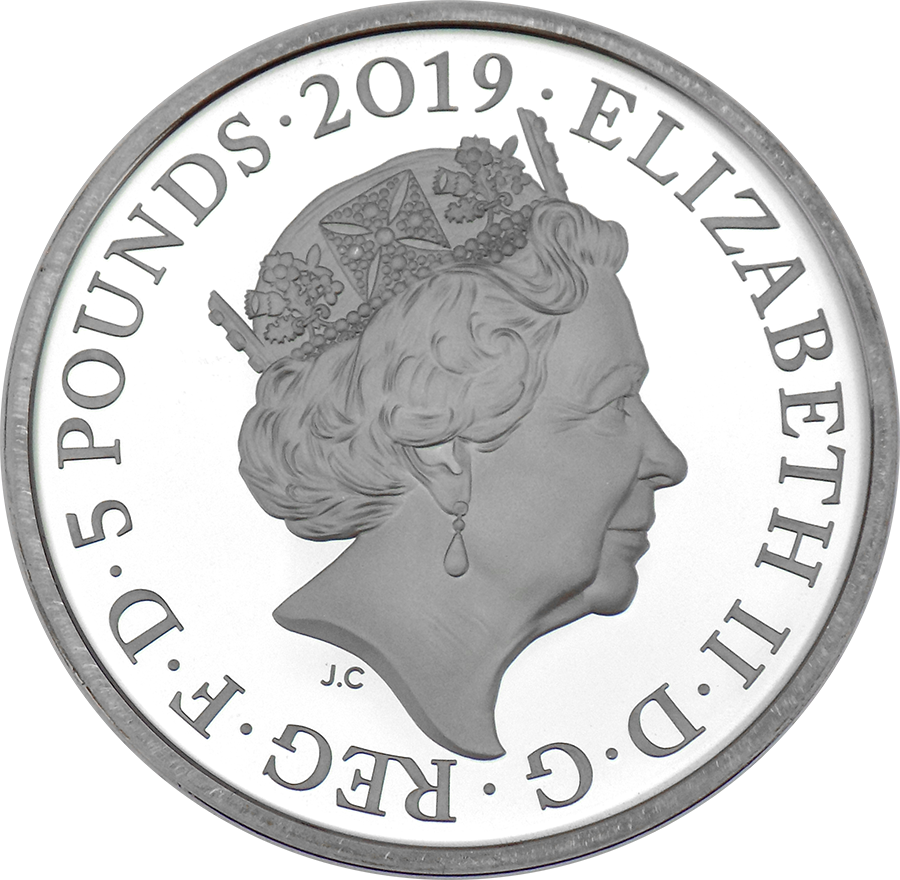 Pre-Owned 2019 UK Tower Of London: Ravens £5 Silver Proof Coin - VAT Free (Image 3)