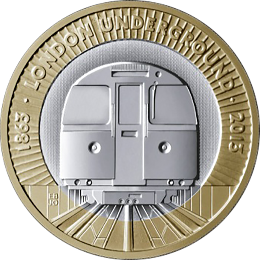 Pre-Owned 2013 150th Anniversary of the Underground £2 Silver Proof Piedfort Coin - VAT Free (Image 2)