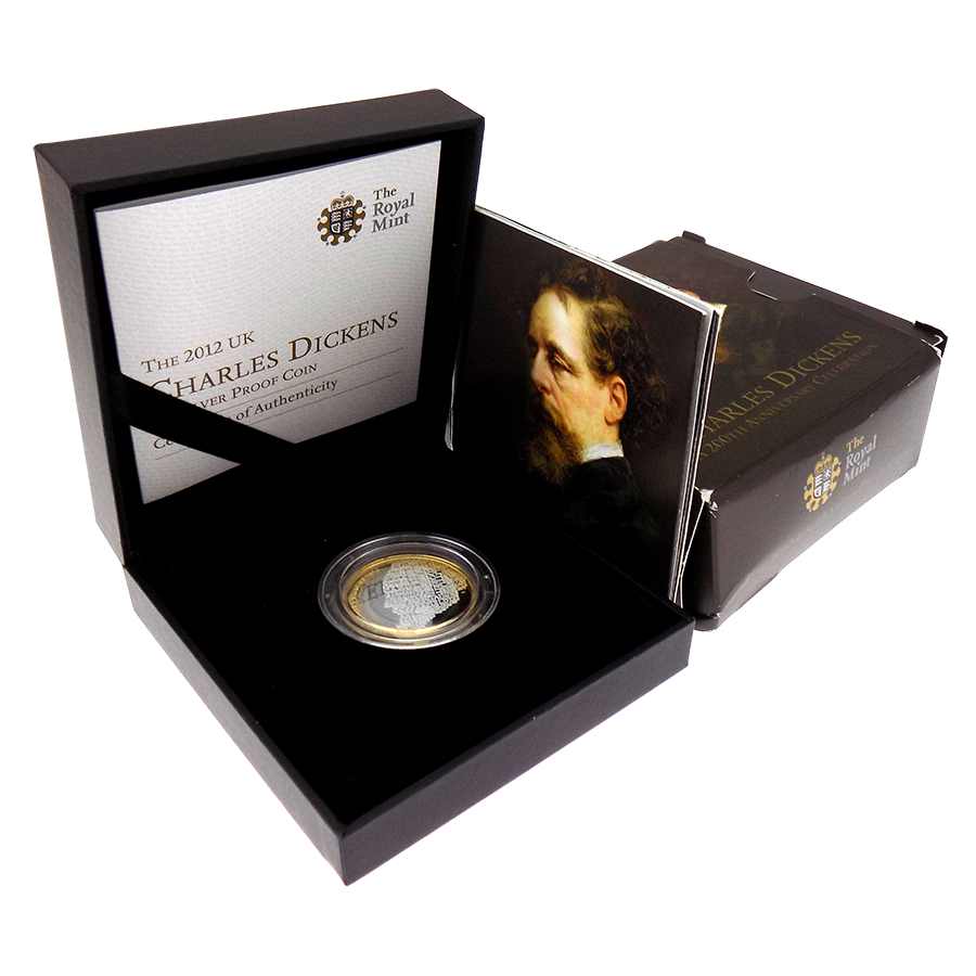 Pre-Owned 2012 UK 200th Anniversary Of Charles Dickens £2 Silver Proof Coin - VAT Free (Image 1)