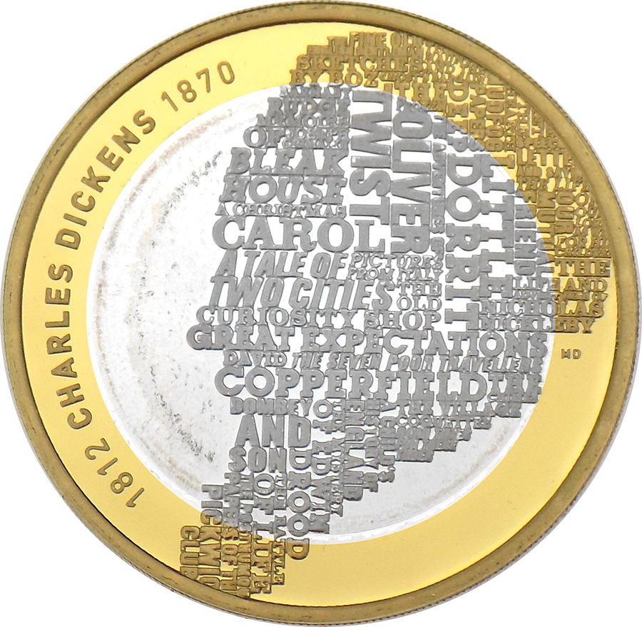 Pre-Owned 2012 UK 200th Anniversary Of Charles Dickens £2 Silver Proof Coin - VAT Free (Image 2)
