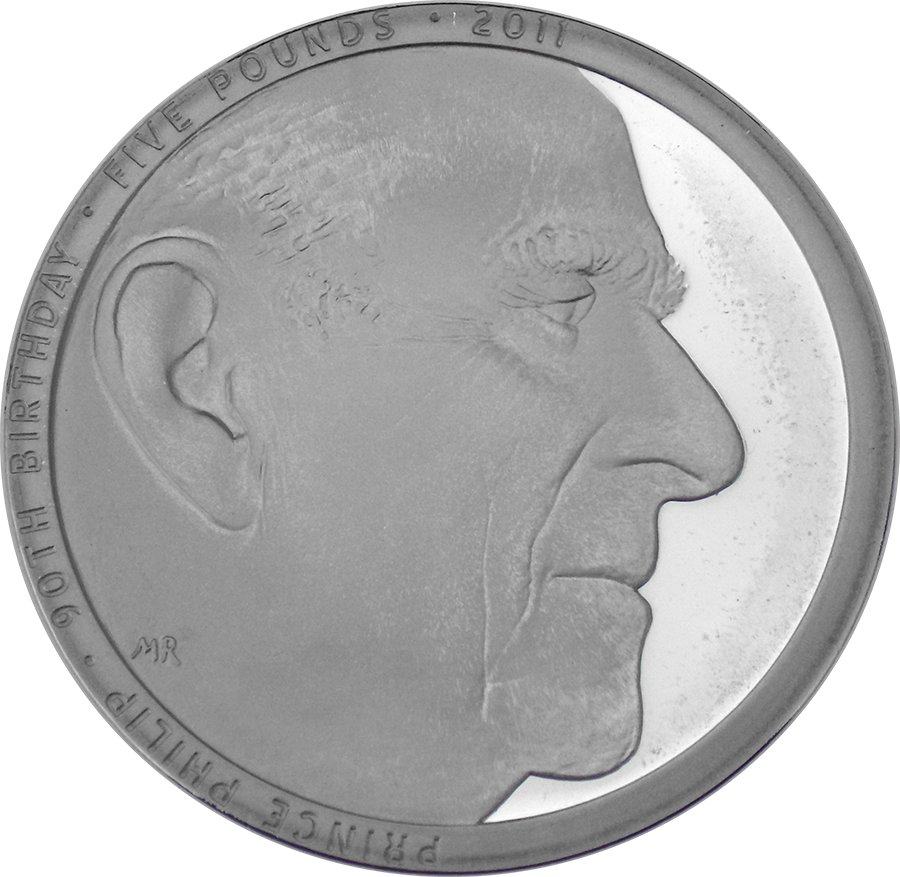 Pre-Owned 2011 UK HRH Prince Philip £5 Crown Silver Proof Piedfort Coin - VAT Free (Image 2)