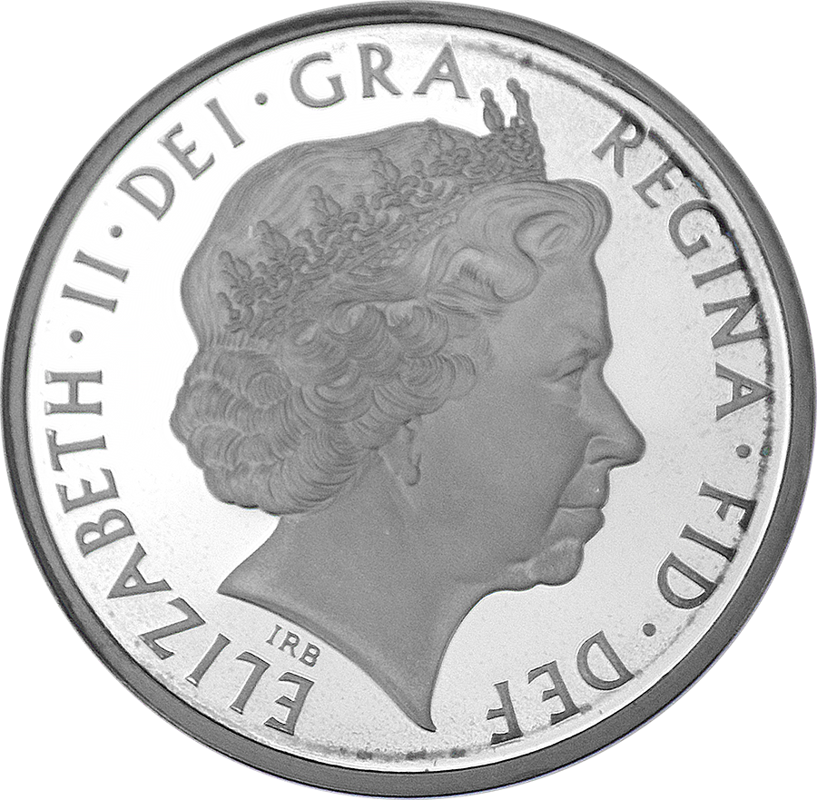 Pre-Owned 2011 UK HRH Prince Philip £5 Crown Silver Proof Piedfort Coin - VAT Free (Image 3)