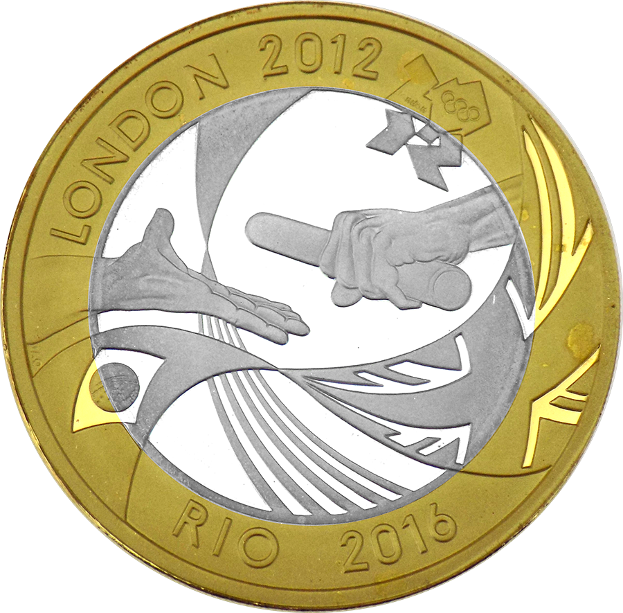 Pre-Owned 2012 UK Olympic Games Handover Ceremony To Rio £2 Proof Piedfort Silver Coin - VAT Free (Image 2)