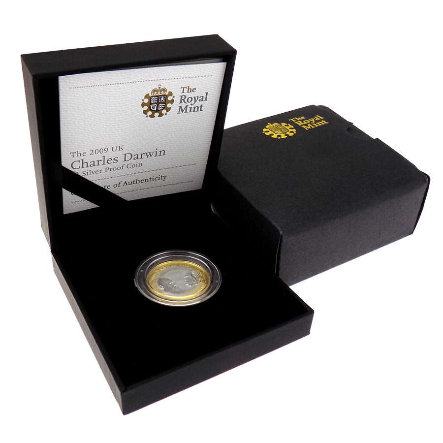 Pre-Owned 2009 UK Charles Darwin £2 Silver Proof Coin - VAT Free