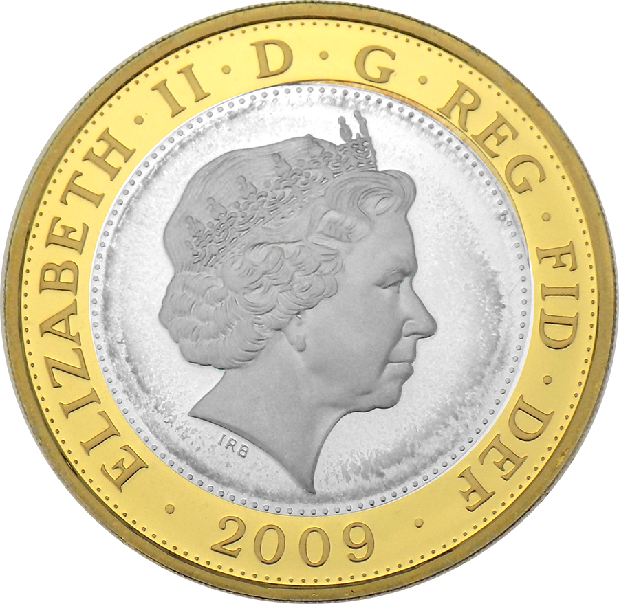 Pre-Owned 2009 UK Robert Burns £2 Proof Silver Coin - VAT Free (Image 3)