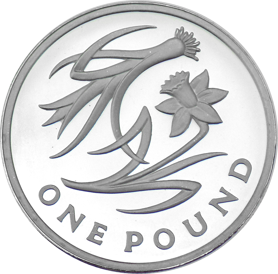 Pre-Owned 2013 UK Icons Of A Nation: Wales Floral Proof Piedfort £1 Silver Coin - VAT Free (Image 2)
