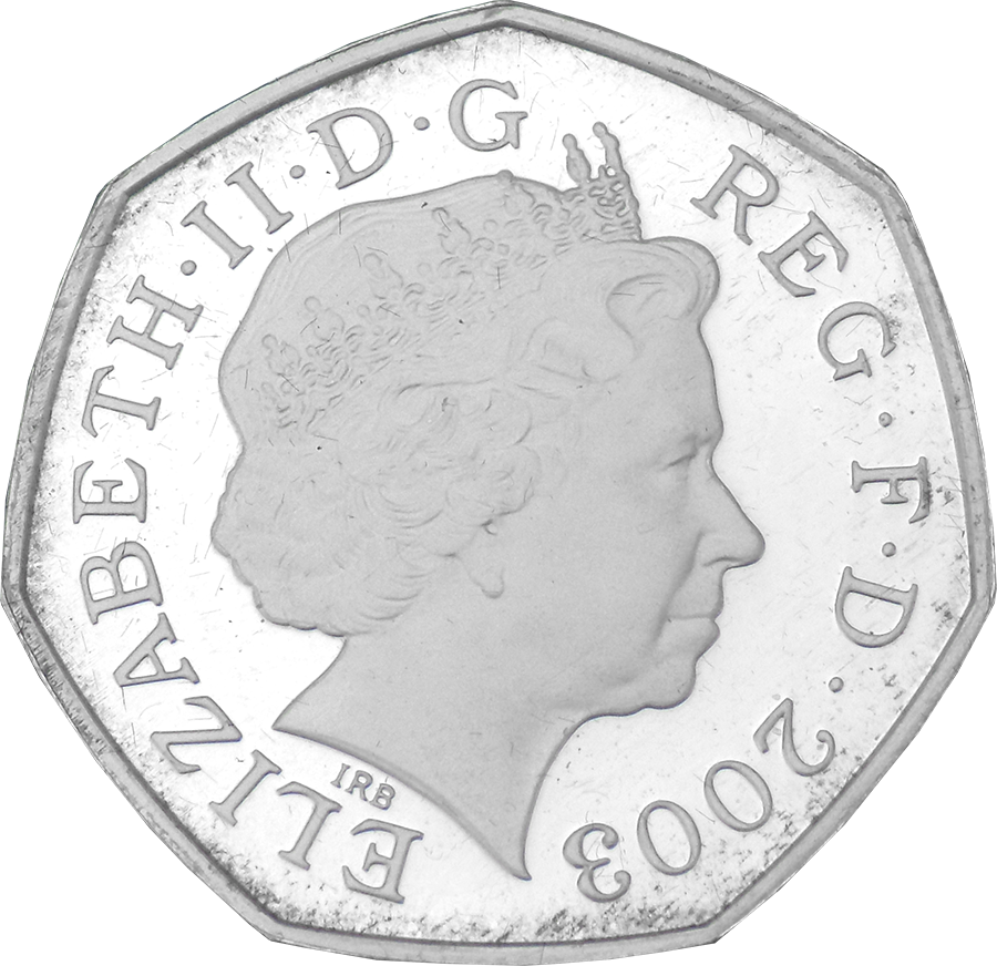 Pre-Owned 2003 UK Women Social Political Union 50p Silver Proof Piedfort Coin - VAT Free (Image 3)