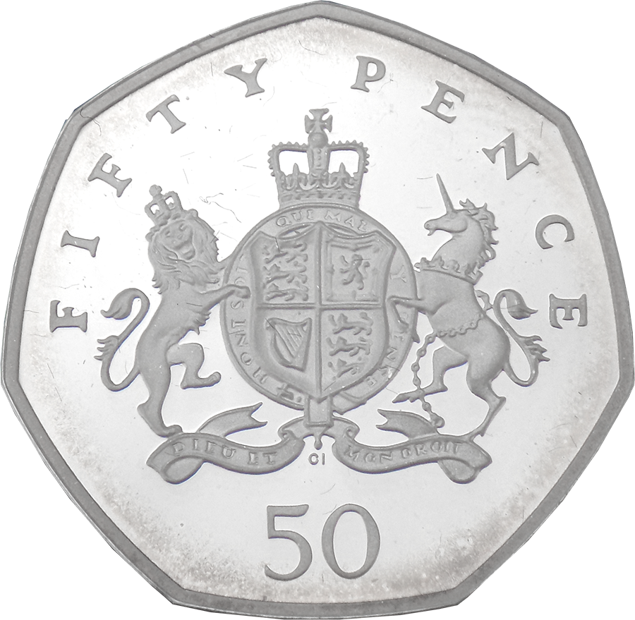 Pre-Owned 2013 UK Christopher Ironside 50p Proof Piedfort Silver Coin - VAT Free (Image 2)