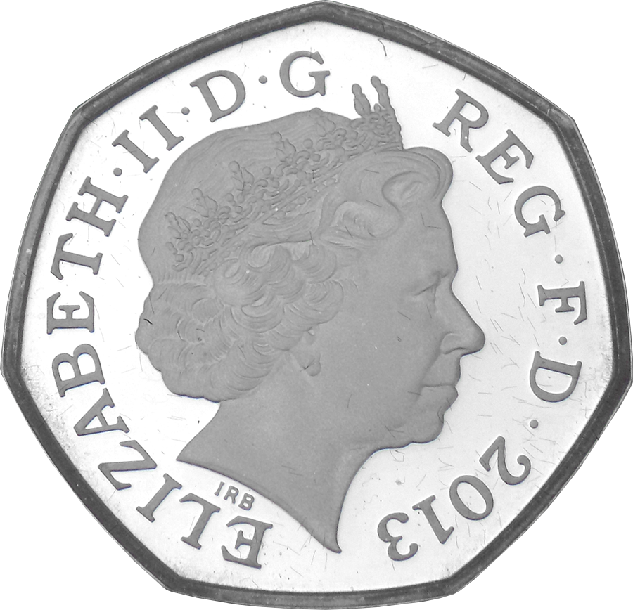 Pre-Owned 2013 UK Christopher Ironside 50p Proof Piedfort Silver Coin - VAT Free (Image 3)