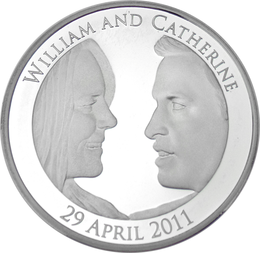 Pre-Owned 2011 UK Royal Wedding William & Catherine Silver Proof Piedfort Coin - VAT Free (Image 2)