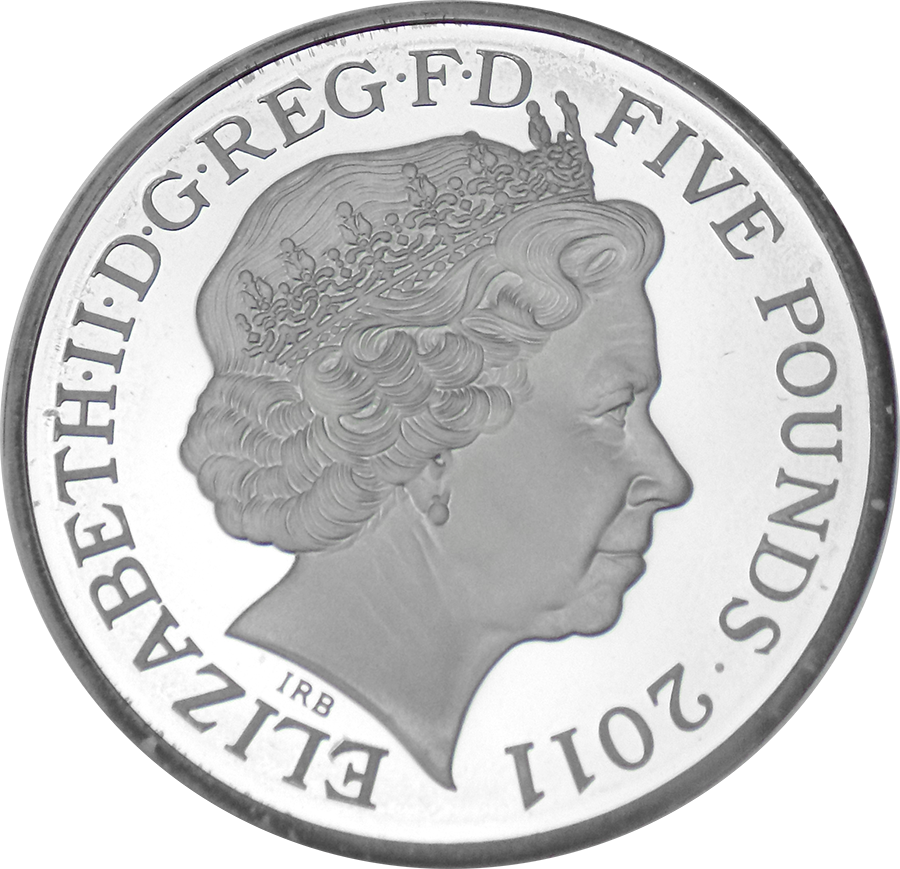 Pre-Owned 2011 UK Royal Wedding William & Catherine Silver Proof Piedfort Coin - VAT Free (Image 3)