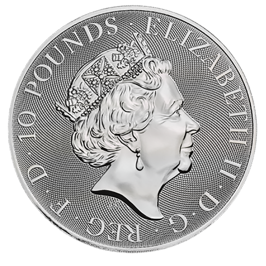 2020 UK Queen's Beasts The Yale of Beaufort 10oz Silver Coin (Image 2)