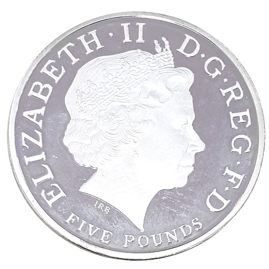 Pre-Owned 2008 UK The Prince Of Wales £5 Silver Proof Piedfort Crown Coin - VAT Free (Image 3)