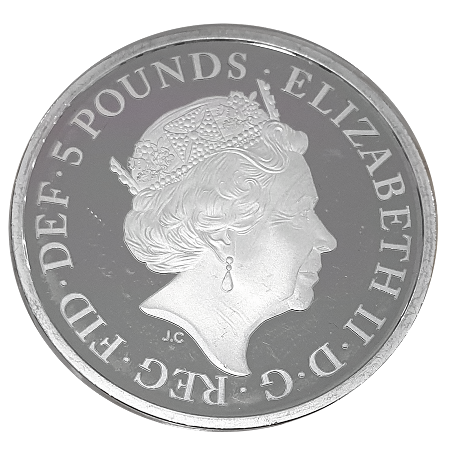 Pre-Owned 2018 UK Four Generations of The Royal Family £5 Silver Proof Piedfort Coin - VAT Free (Image 3)