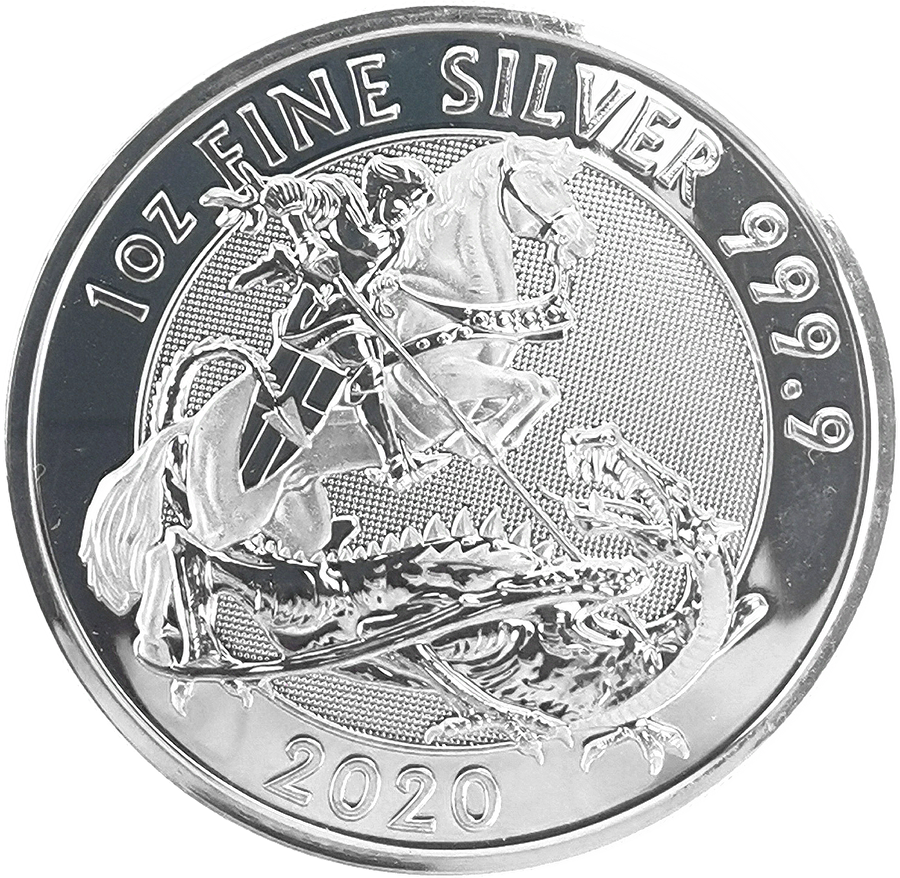 Pre-Owned 2020 Royal Mint Valiant 1oz Silver Coin - VAT Free