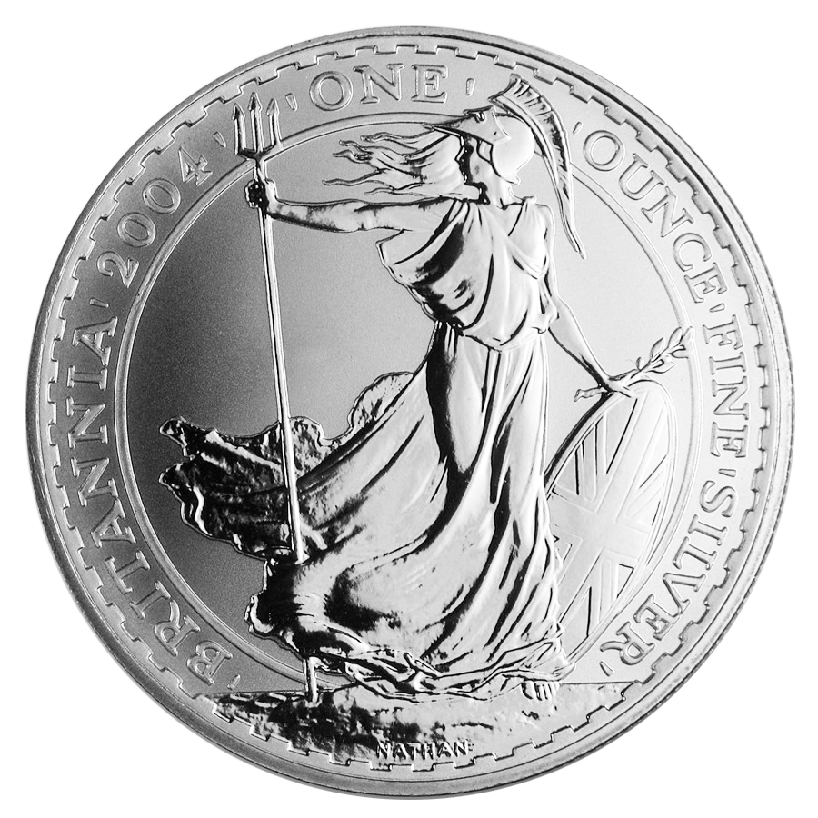 Pre-Owned 2004 UK Britannia 1oz Silver Coin - VAT Free