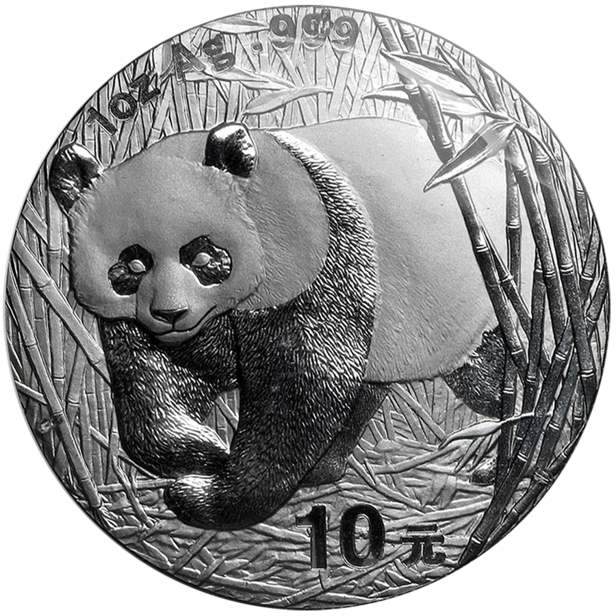 Pre-Owned 2002 Chinese Panda 1oz Silver Coin - VAT Free