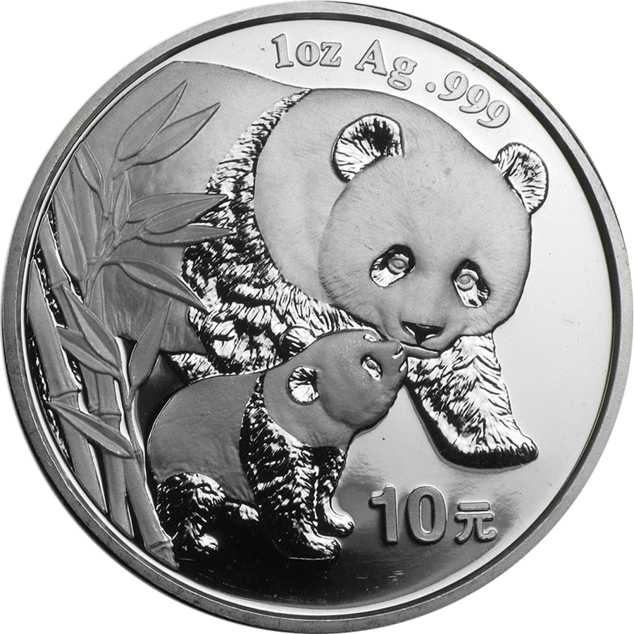 Pre-Owned 2004 Chinese Panda 1oz Silver Coin - VAT Free