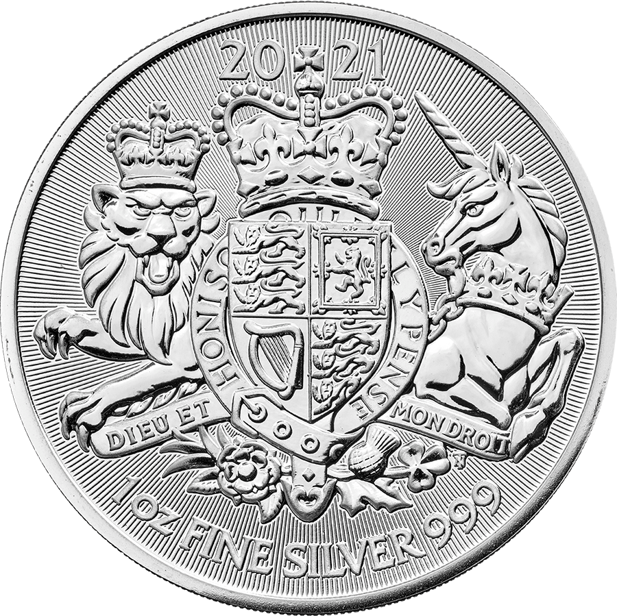 2021 UK Royal Arms 1oz Silver Coin