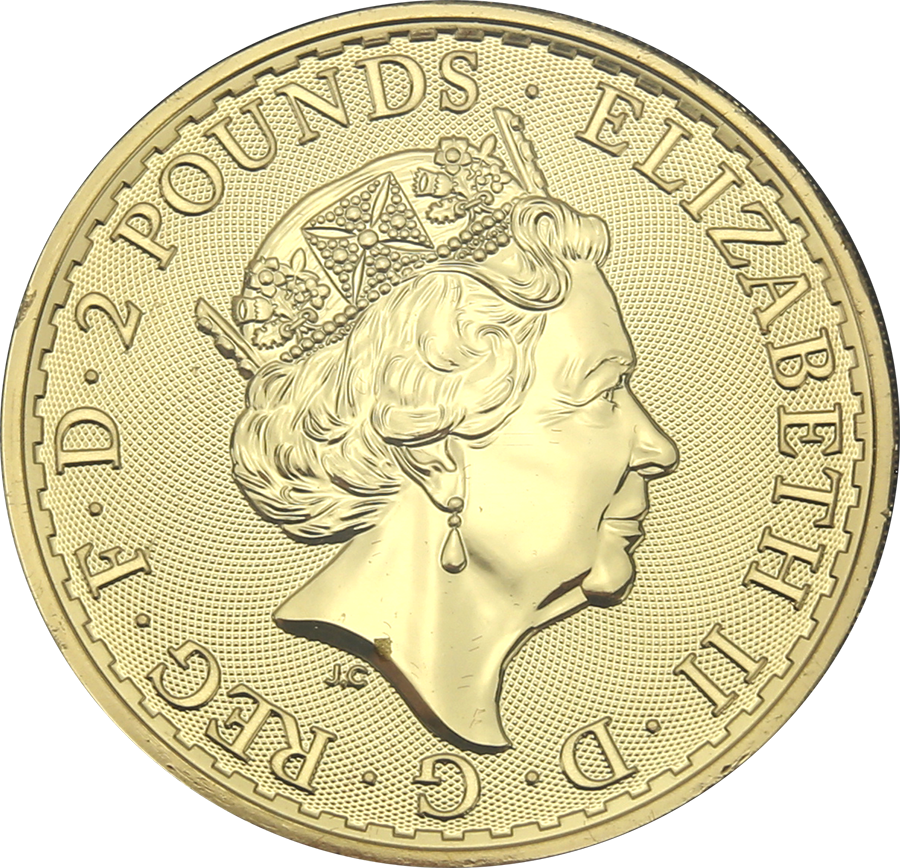 Pre-Owned 2019 UK Britannia Normandy Gilded Colourised 1oz Silver Coin - VAT Free (Image 2)