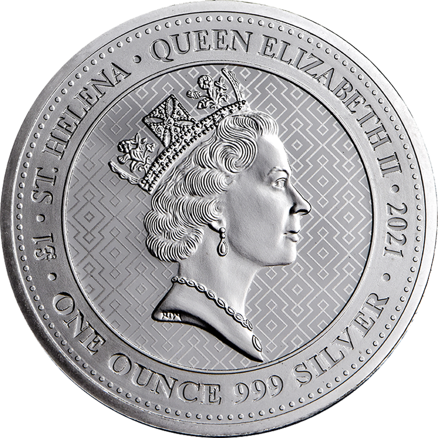 2021 St Helena The Queen's Virtues Victory 1oz Silver Coin (Image 2)