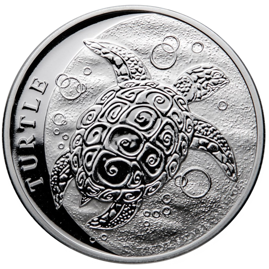 2021 Niue Hawksbill Turtle 1oz Silver Coin