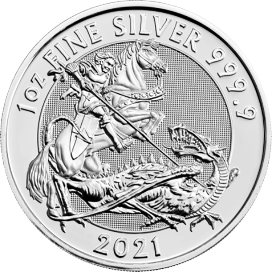 2021 Royal Mint Valiant 1oz Silver Coin (Image 1)